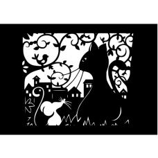 Панно на стену Кот и мышка