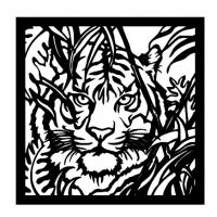 Резное панно на стену Тигр