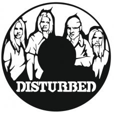 Часы на виниле Disturbed