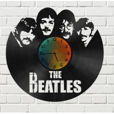 Часы на виниле Beatles