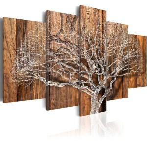 Деревянное резное 3D панно