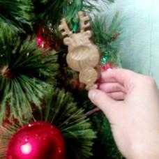 """Ёлочная игрушка из дерева """"Сказочный олень"""""""