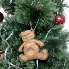 """Ёлочная игрушка из дерева """"Медведь"""""""