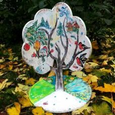 Развивающая деревянная игрушка Дерево 4 сезона