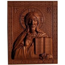 Деревянная икона из дуба Господь Вседержитель