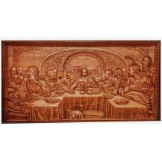 Икона из массива дерева Тайная вечеря