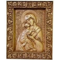 Резная икона Божья Матерь Владимирская