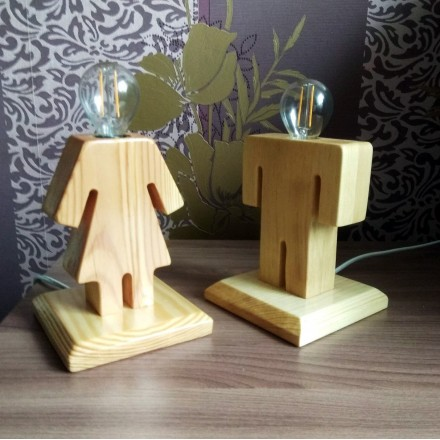 Настольная лампа ночник Мальчик и девочка