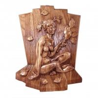 Деревянное панно Банное