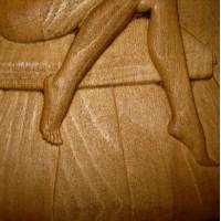 Вывеска для бани Девушка с веником