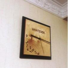 Деревянные часы Whatever