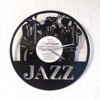 Часы на виниловой пластинке Jazz