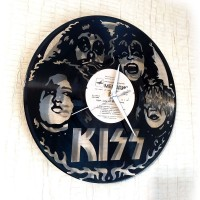 Часы на виниле Kiss
