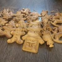 Набор ёлочных игрушек из дерева 5 шт.