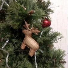"""Ёлочная игрушка из дерева """"Лось"""""""