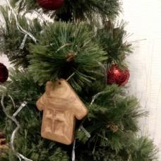 """Ёлочная игрушка из дерева """"Домик"""""""