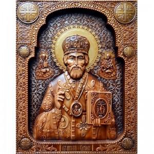 Резные деревянные иконы ручной работы