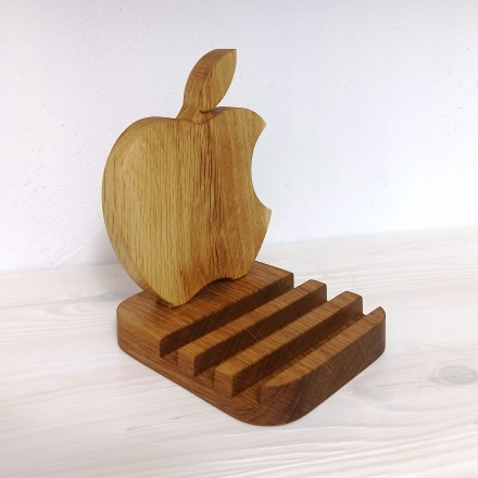 Деревянная подставка для телефона Айфон