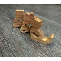 Набор сувениров из дерева Звери 3 шт.