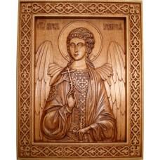 Икона из массива дерева Ангел-Хранитель