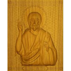 Икона из массива дерева Иоанн Предтеча