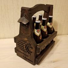 Деревянный ящик-переноска для пива