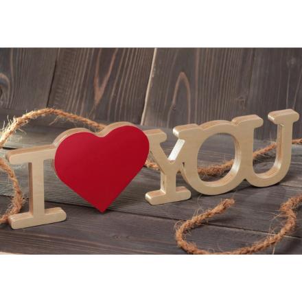 Слова из дерева I love you